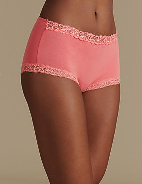 Comfort Scroll Lace High Rise Shorts, WATERMELON, catlanding