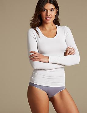 Heatgen™ Thermal Long Sleeve Top, LIGHT GREY, catlanding