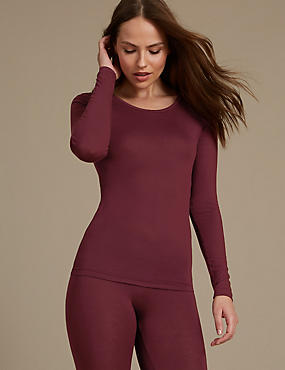 Heatgen™ Thermal Long Sleeve Top, WINE, catlanding