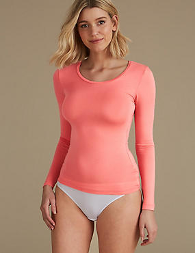 Heatgen™ Thermal Long Sleeve Top, CORAL, catlanding