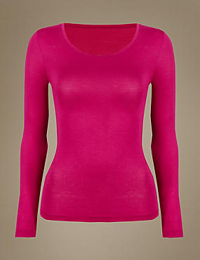 Heatgen™ Thermal Long Sleeve Top, FUCHSIA, catlanding