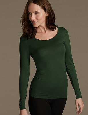 Heatgen™ Thermal Long Sleeve Top, HOLLY, catlanding
