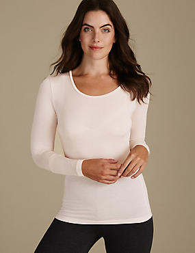 Heatgen™ Thermal Long Sleeve Top, PALE ROSE, catlanding