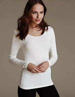 Heatgen™ Thermal Long Sleeve Top, LIGHT CREAM, catlanding