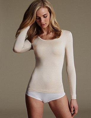 Heatgen™ Thermal Long Sleeve Top, OATMEAL, catlanding