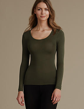 Heatgen™ Thermal Long Sleeve Top, DARK OLIVE, catlanding