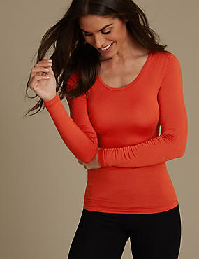 Heatgen™ Thermal Long Sleeve Top, BURNT ORANGE, catlanding