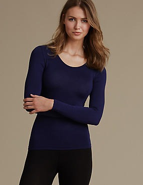 Heatgen™ Thermal Long Sleeve Top, DARK INDIGO, catlanding