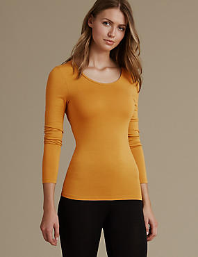 Heatgen™ Thermal Long Sleeve Top, DARK GOLD, catlanding