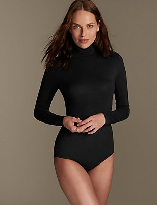 Heatgen™ Polo Neck Thermal Body, BLACK, catlanding