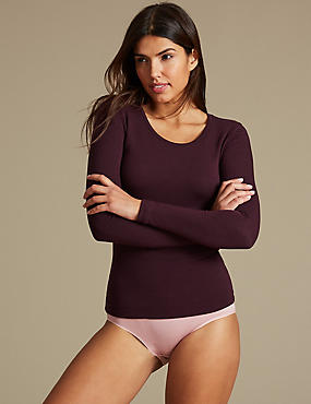 Heatgen Plus™ Thermal Long Sleeve Top, BLACKCURRANT, catlanding