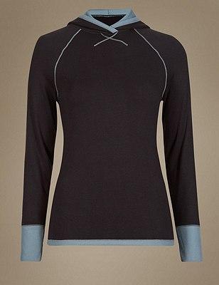 Heatgen™ Thermal Hooded Top, BLACK MIX, catlanding