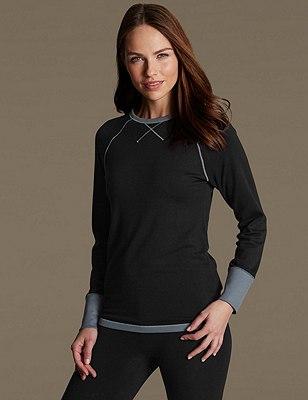 Heatgen™ Thermal Long Sleeve Top, BLACK MIX, catlanding