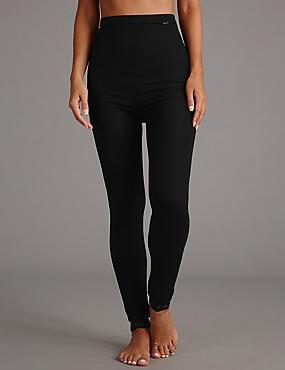 Silk & Modal Thermal Leggings , BLACK, catlanding