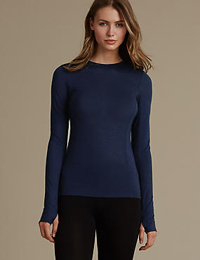 Long Sleeve Thermal Top, INDIGO, catlanding