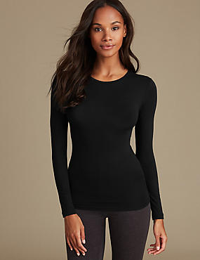 Heatgen™ Thermal Long Sleeve Top , BLACK, catlanding