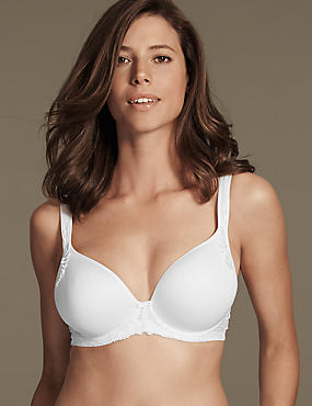 Ophelia Embroidered Spacer Balcony Bra DD-GG with Cool Comfort™ Technology, WHITE, catlanding