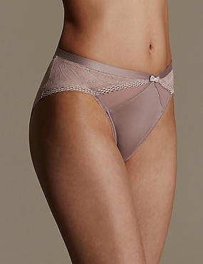 Lace Smoothing High Leg Knickers