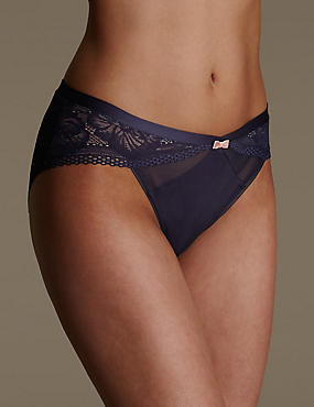Smoothing Lace High Leg Knickers