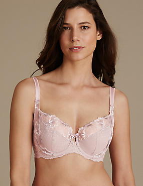 Embroidered Non Padded Balcony Bra DD-GG, NUDE MIX, catlanding
