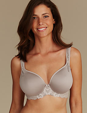 Floral Embroidered Padded Balcony Bra DD-GG, NUDE MIX, catlanding