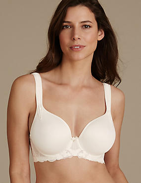 Floral Embroidered Padded Balcony Bra DD-GG, WHITE MIX, catlanding