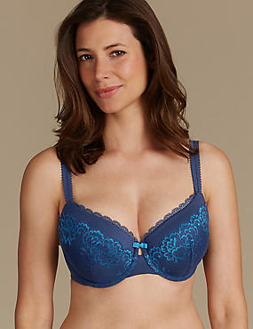 Sumptuously Soft Ultimate Comfort Plunge Bra DD-GG, BLUE MIX, catlanding