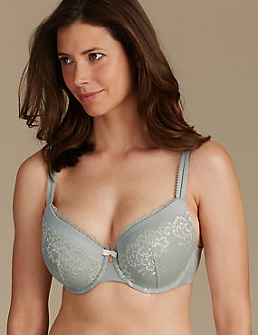 Sumptuously Soft Ultimate Comfort Plunge Bra DD-GG, GREEN MIX, catlanding