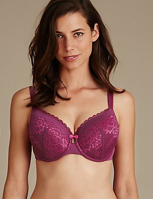 Sumptuously Soft Ultimate Comfort Plunge Bra DD-GG, MAGENTA MIX, catlanding