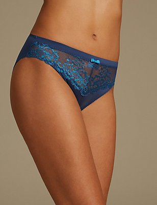 Sumptuously Soft Ultimate Comfort High Leg Knickers, BLUE MIX, catlanding
