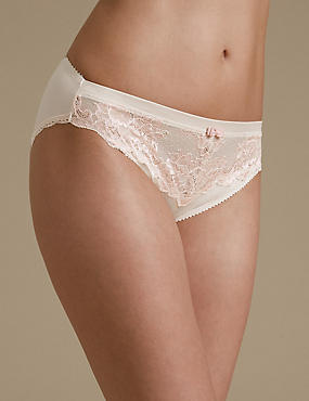 Sumptuously Soft Ultimate Comfort High Leg Knickers, PALE PINK MIX, catlanding