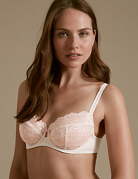 Sumptuously Soft Ultimate Comfort Full Cup Bra A-DD, PALE PINK MIX, catlanding