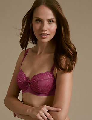 Sumptuously Soft Ultimate Comfort Full Cup Bra A-DD, MAGENTA MIX, catlanding