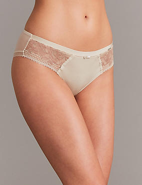 Lace Brazilian Knickers, NUDE MIX, catlanding
