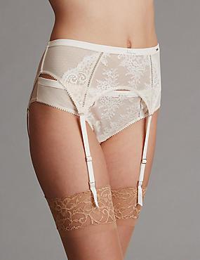 Lisette Lace Bridal Suspender, CREAM MIX, catlanding