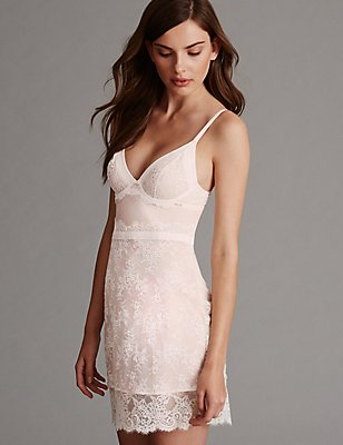 Lisette Lace Underwired Bridal Slip A-D, CREAM MIX, catlanding