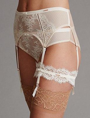 Lisette Lace Bridal Garter, CREAM MIX, catlanding