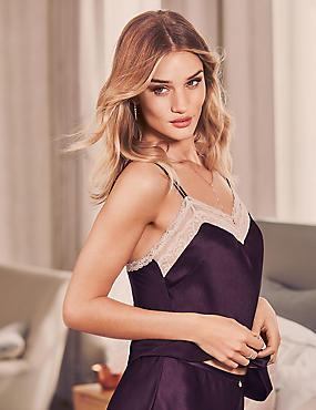 Silk & Lace Camisole, PURPLE, catlanding