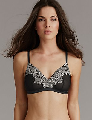Applique Lace Bralet, , catlanding