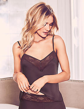 Silk & Lace Camisole, PURPLE, catlanding