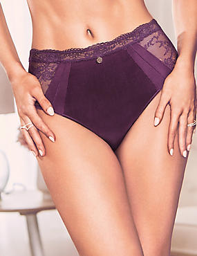 Silk & Lace Shorts, PURPLE, catlanding