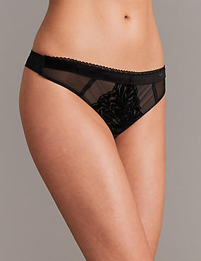 Flock Thong, BLACK MIX, catlanding
