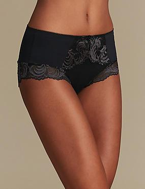 Lace High Rise Shorts, BLACK MIX, catlanding