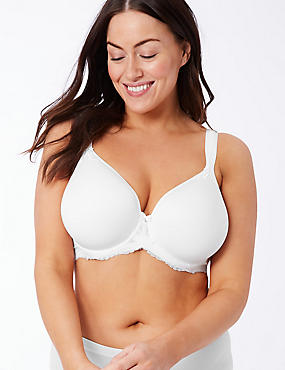 Sophia Lace Underwired Spacer Full Cup Bra DD-GG, WHITE, catlanding