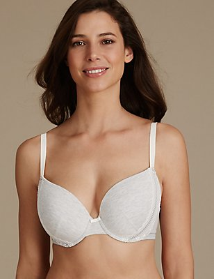 2 Pack Modal Blend Padded Plunge Bra DD-GG, GREY MIX, catlanding