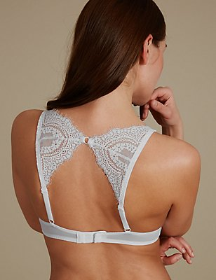 Rustic Eyelash lace Padded Full Cup Bra A-E, WHITE MIX, catlanding