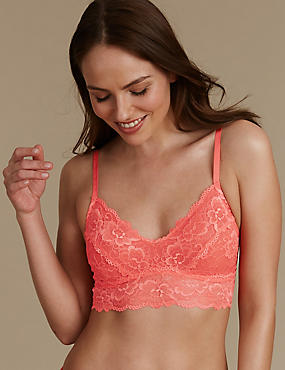 Isabella Lace Bralet, TOMATO, catlanding