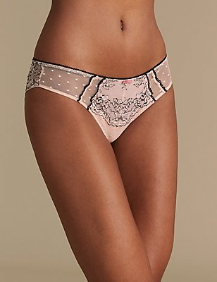 Lace Brazilian Knickers, PINK MIX, catlanding