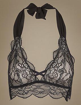 Glamour Unwrap Bralet, BLACK, catlanding