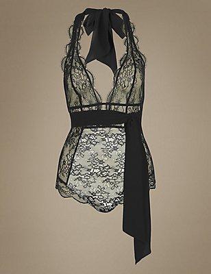 Glamour Unwrap Non-Padded Body , BLACK, catlanding
